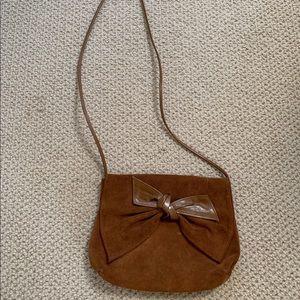 Handbags - Chestnut suede crossbody bag